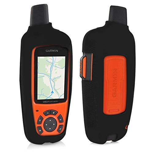 - kwmobile Case for Garmin inReach Explorer - GPS Handset Navigation System Soft Silicone Skin Protective Cover - Black