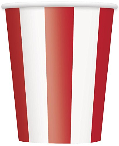 12oz Red Striped Paper Cups, 6ct]()