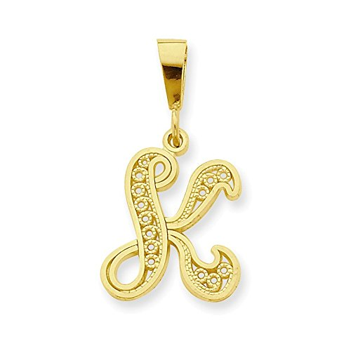 Jewelry Adviser Charms 10k Initial K Charm by Jewelry Adviser Charms