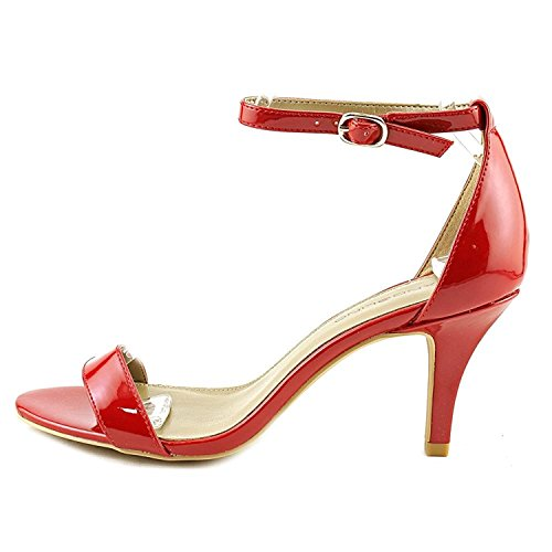 Bandolino Womens Madia Open Toe Ankle Strap D-Orsay Pumps, Medium Red, Size 8.0