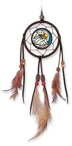 Amia 6042 Eagle Mini Dream-suncatcher, Hand-painted Glass, 3-1/2-inch W By 9-inch L, Hanging Suncatcher