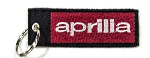 Aprilia Cars (Aprilia Quality Woven Fabric Keyring Black Silver Key Ring Chain Car Brand)