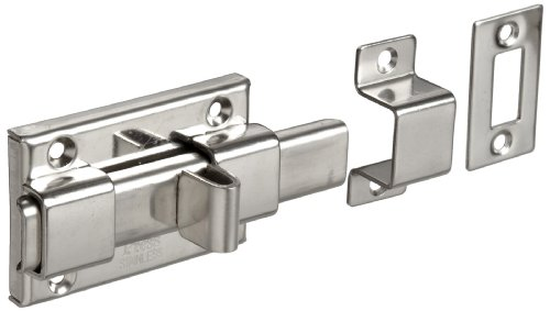 Stainless Steel 304 Slide Bolt Latch, Polished Finish, Non Locking, 2-9/16