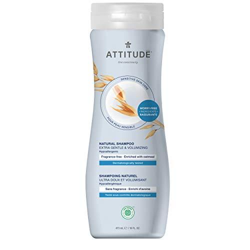 - ATTITUDE Sensitive Skin, Hypoallergenic Shampoo, Fragrance Free, 16 fl. oz.