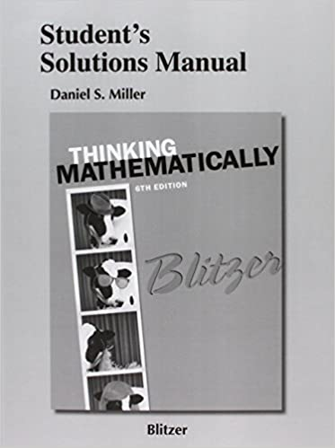 Amazon students solutions manual for thinking mathematically students solutions manual for thinking mathematically 6th edition fandeluxe Choice Image