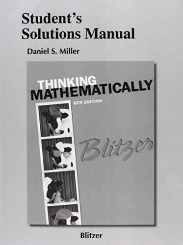 Student's Solutions Manual for Thinking Mathematically