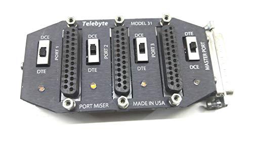 Telebyte Port Miser Model 31 Master Port Sharing Device Made in US from TELEBYTE