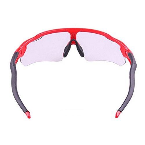 Al Negro Bicicleta para Hombre Sol Color Sol De De Montar De Montaña de Libre Rompevientos Bicicleta Deportes Red Aire Gafas Gafas LBY Descolorido Gafas qOHBvv