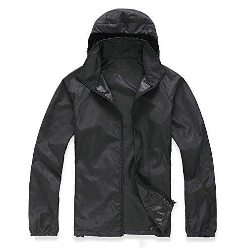 Men Quick Dry UJUNAOR Outdoor Jacket Fashion Coat Women Waterproof Windproof Sports Black Blouse qwxEzw8C