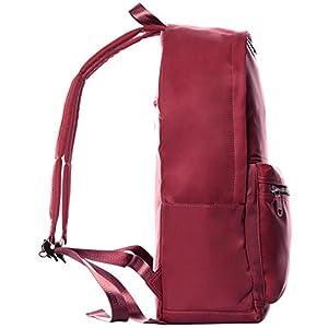 Veenajo Unisex Lighweight Backpack Water Resistant School Rucksack Travel Casual Daypack (Deep Red)