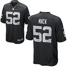 Mens Oakland Raiders Khalil Mack Nike Black Game Jersey (XX-Large)