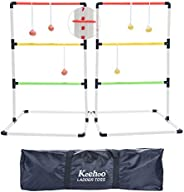 KH Indoor Outdoor Ladder Ball Toss Game Set Beach Yard Games for Family Adults Kids