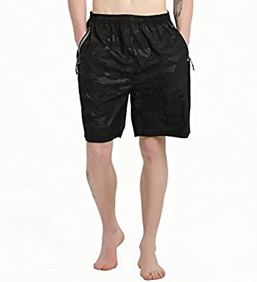 Gititlys Mens Gym Shorts for Men Elastic Waist - Quick Dry Stretchable for Running, Training, Workout Swim Trunks for Watersports