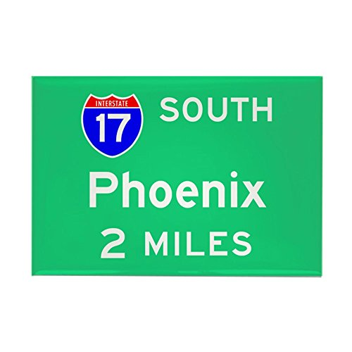 CafePress Phoenix Exit Sign Rectangle Magnet Rectangle Magnet, 2