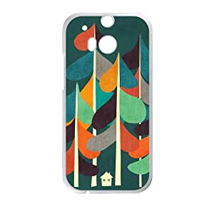 HTC One M8 Cell Phone Case White Cabin in the woods KYS1162575KSL