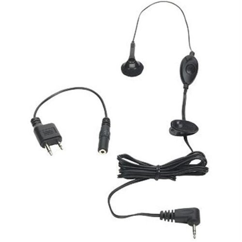 Hands Free Mic and Single Earbud Universal 2 Way Radio Earbud Jft910 Black