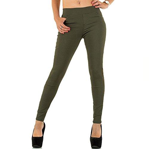 iTaL-dESiGn - Vaqueros - skinny - para mujer caqui