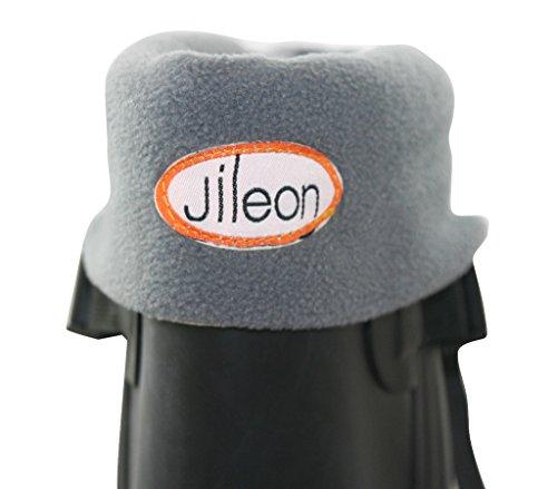 Fleece Women Soft Rainboots Liners Warm Men Jileon Cozy and Winter Gray amp; 4pqO8gw8