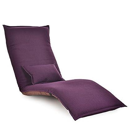 e-joy Folding Sofa Lounge Floor Chair, Floor Sofa, Relaxing Chair Folding Futon C2, Purple