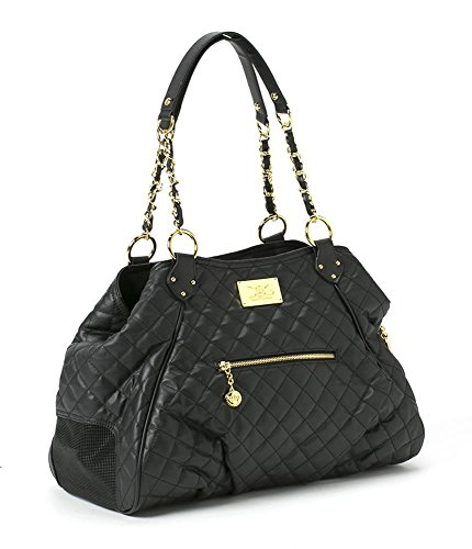 Totes - Classic Tote, Black Quilted by Three Boys of Scottsdale Pet Boutique