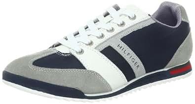 Tommy Hilfiger Men's Peter Sneaker,Blue Multi Leather,7.5 M US