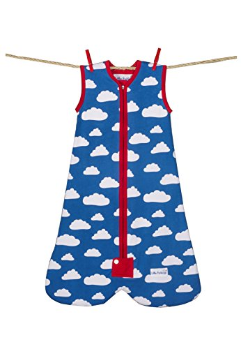 Little Fishkopp Organic Cotton Baby Sleep Bag, Clouds, 1.0 Tog, Blue, Medium by Little Fishkopp
