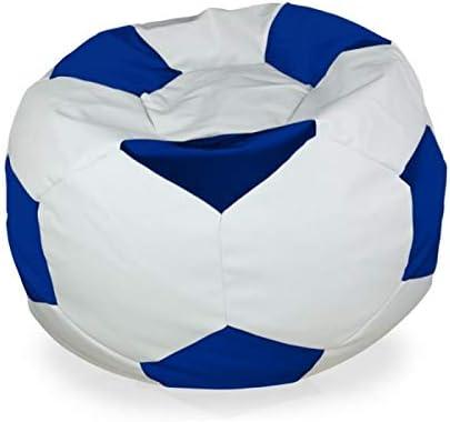 Italpouf - Puf de balón de fútbol Gigante, XXL, 80 x 105 cm de ...