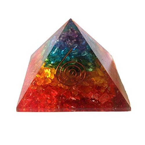 - Pura Esprit Orgone Pyramids - Rainbow Handmade Orgone Energy Generator Emf Protection 7Chakra Healing Natural Orgonite Crystal Pyramid for - Meditation Reiki Inner Healing Love Motivation Courage Kit