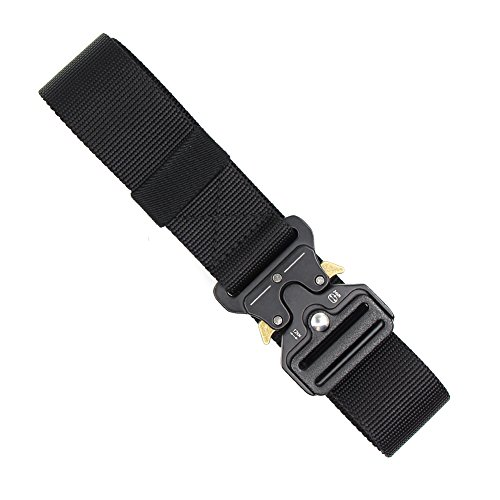 Nylon Canvas Tactical Pants - Hosenhan Tactical Belt Adjustable Military Army Style Carry Belt Heavy Duty CQB Belt Outdoor Shooters Belt with Quick Release Metal Buckle