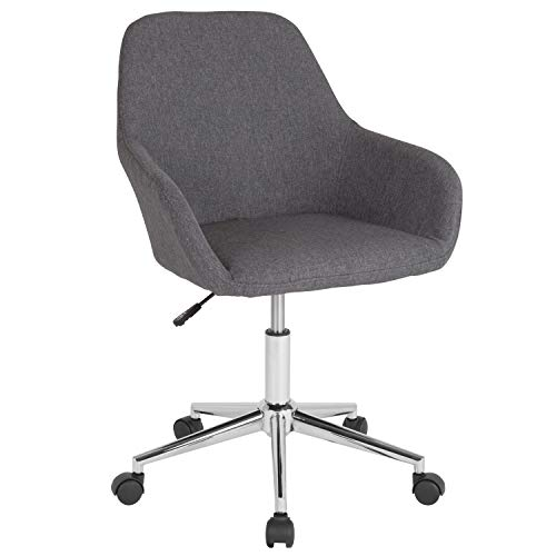 Flash Furniture Cortana Home and Office Mid-Back Chair in Dark Gray Fabric