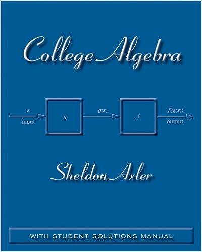 College Algebra: Sheldon Axler: 9780470470770: Amazon.com: Books