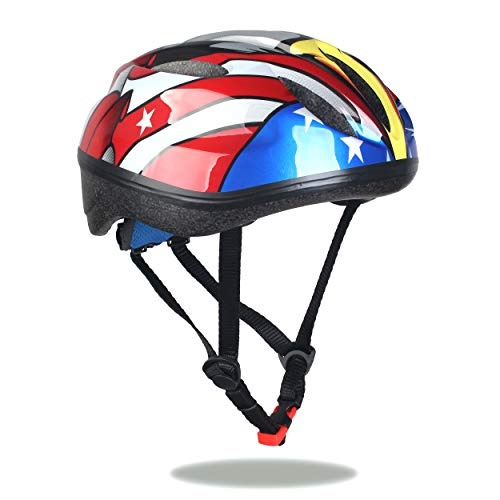 Sarik Youth Kids Bike Helmet 5-14 Years Boys and Girls Helmet with Safety Sports CPSC Impact Resistance for Cycling Skateboarding Rollerblading and Other Extreme Sports -