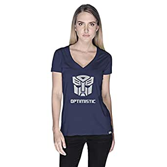 Creo Optimus Super Hero T-Shirt For Women - L, Navy