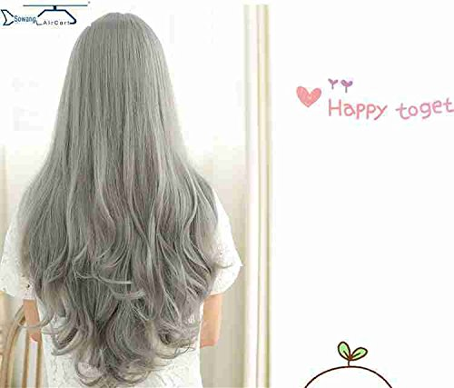 Jewelry Portal scalp growth Halloween holiday ornaments golden child princess wig pear gray wig ()