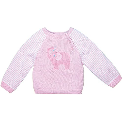 Zubels 100% Hand-Knit Elephant Sweater in Pink All Natural Fibers by Zubels
