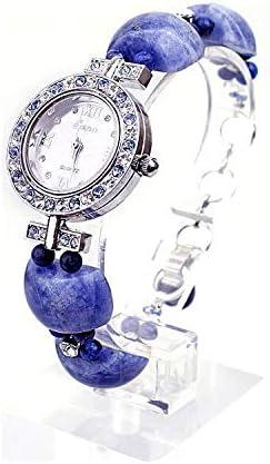 HWCOO Montre Bracelet en Cristal Montre à Bracelet en Saphir Naturel pour Femme, Diamant décontracté, Montre à Quartz étanche 1