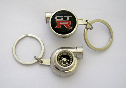 Spinning Turbo Keychain with Skyline Gt-R Logo ()
