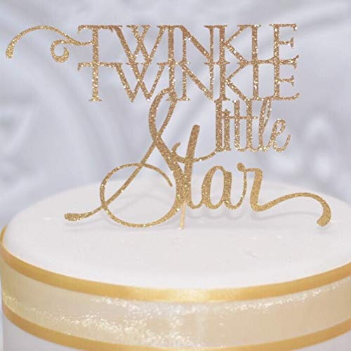 Gold Twinkle Twinkle Little Star Cake topper for Baby Shower or 1st Birthday