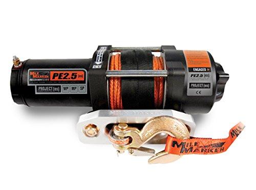 Mile Marker 77-53105BW PE2.5(ES) ATV/UTV Premium Sealed Electric Winch w/Synthetic Rope - 2,500 lb. Capacity