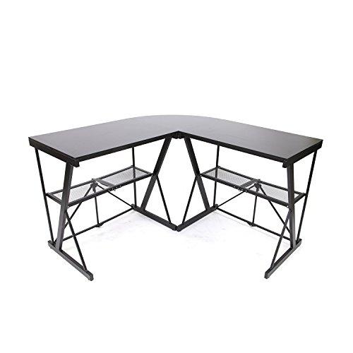 Origami RDE-01C Corner Computer Desk Black, Large