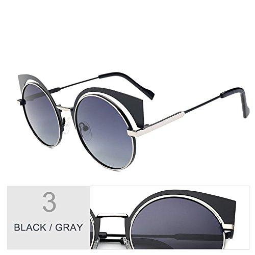 De De Gafas Anti Gray Sol Gafas Sol Para Pistola Silver Black Reflejo Polarizadas Mujeres Uv400 TIANLIANG04 5qAfw