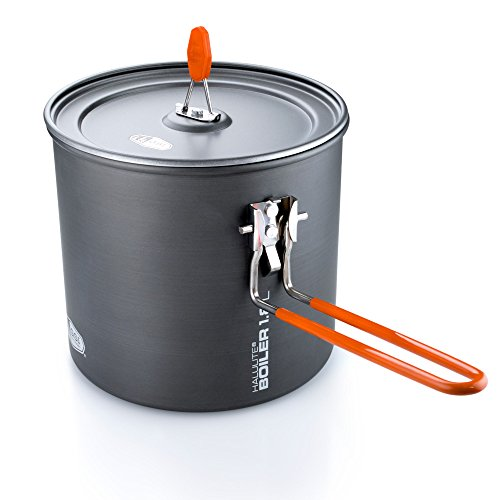 GSI Outdoors Halulite Boiler, The Perfect Packable Pot, 1.8 Liter, Superior Backcountry Cookware Since 1985