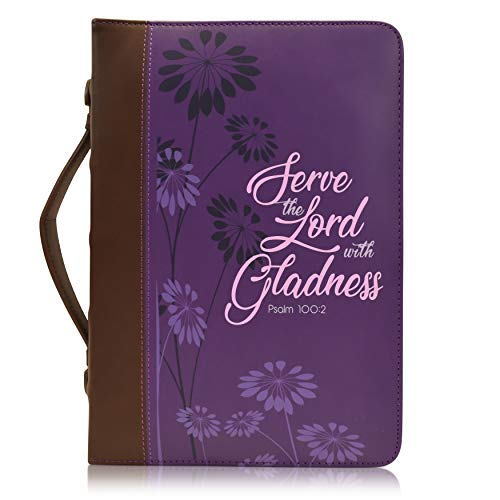 "Women's Bible Cover, ""Serve The Lord with Gladness- Psalm 100:2"