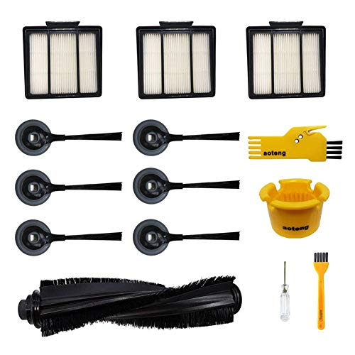 Accessories for Shark ION Robot Vacuum Cleaner R85 RV850 RV850BRN RV850WV S87 RV851WV RV700_N RV720_N RV750_N Replacment Parts Pack of 1 Main Brush, 3 Hepa Filters, 6 Side Brushes, 2 Cleaning Tools