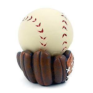 Baseball Stress Ball with Baseball Glove Stand
