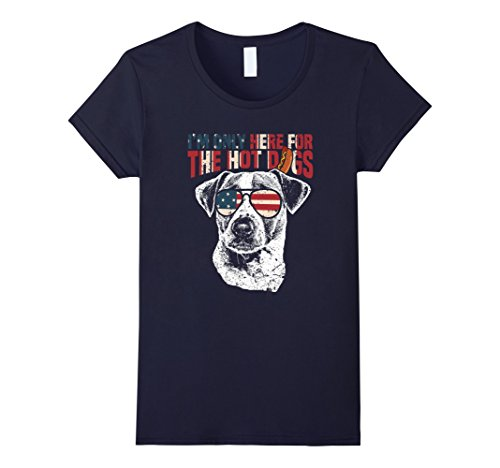 Womens Jack Russell Terrier Shirt Funny 4th of July Pup Tee Medium Navy