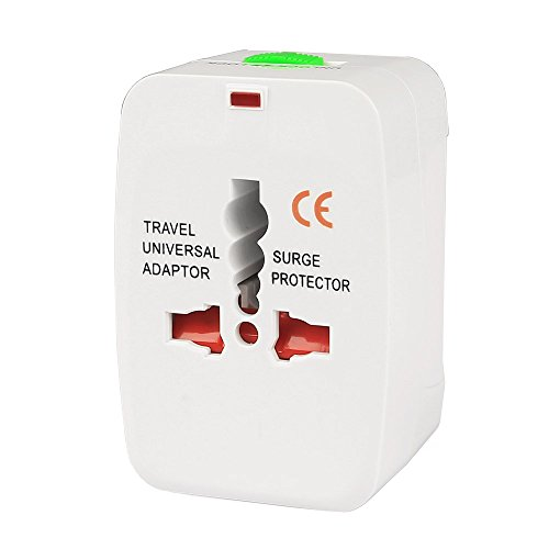 Universal Portable World Wide Travel Power Charger Adapter Plug Converter (White)