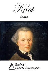 Oeuvres par Emmanuel Kant
