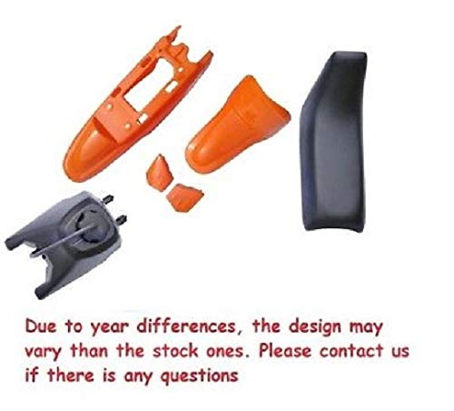 4L ORANGE PLASTIC SET GAS TANK SEAT FOR PW50 YZinger PY50 PS34