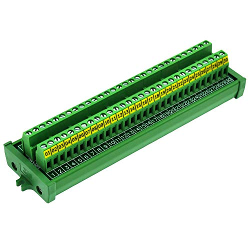 Screw Mount 24A/400V 30 Position Screw Terminal Block Distribution Module